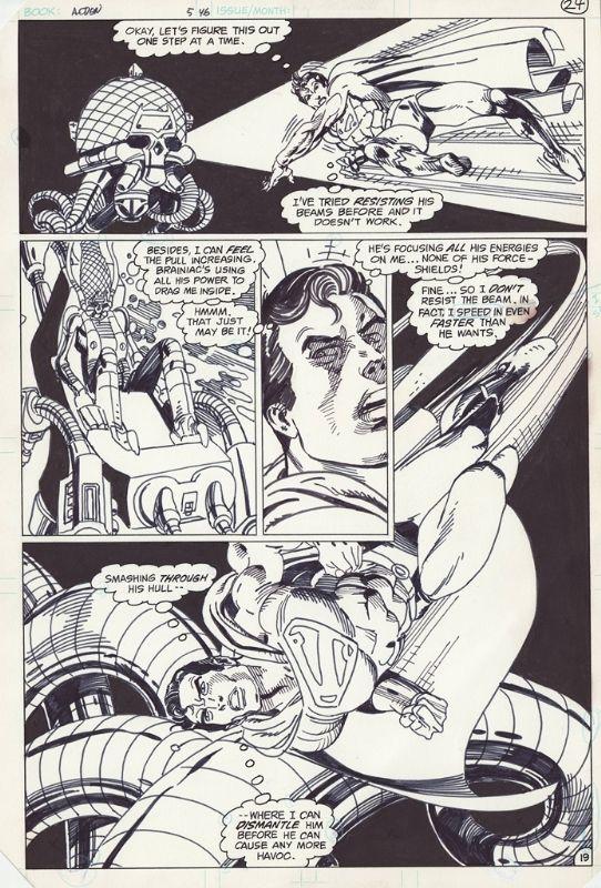 Action Comics #546, pg. 19 Comic Art