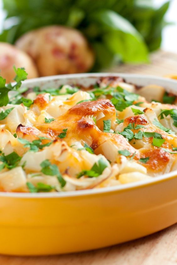 Potatoes Casserole Recipe with bacon, cheddar, cream of mushroom soup ...