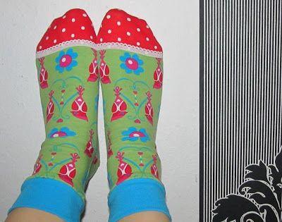 Nachbarzwerg´s Stoffgarten: Heiße Socken :O)