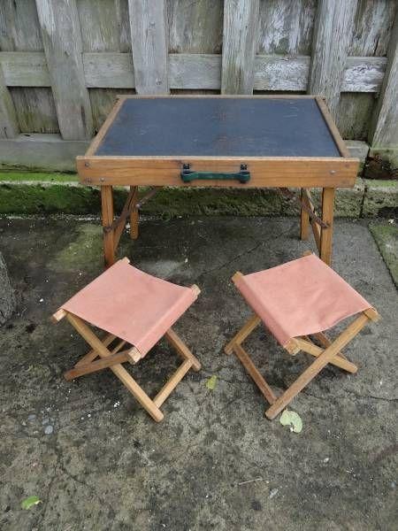 Chair アンティーク木製ピクニックテーブル&椅子セットSALE インテリア 雑貨 家具 Antique ¥6900yen 〆09月02日