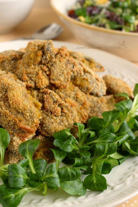 ...konyhán innen - kerten túl...: rántott csirkemáj sütőbe sütve