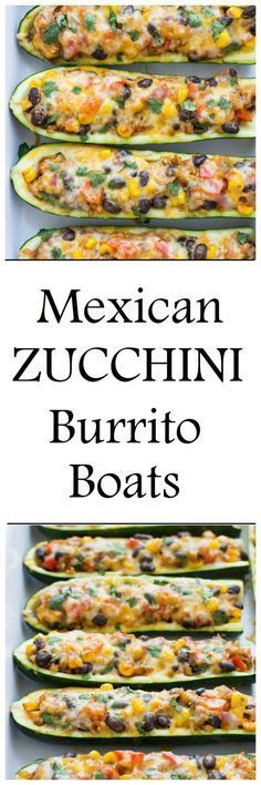 Zucchini Burrito Boats are a simple meatless and gluten-free meal packed full of Mexican flavor!
