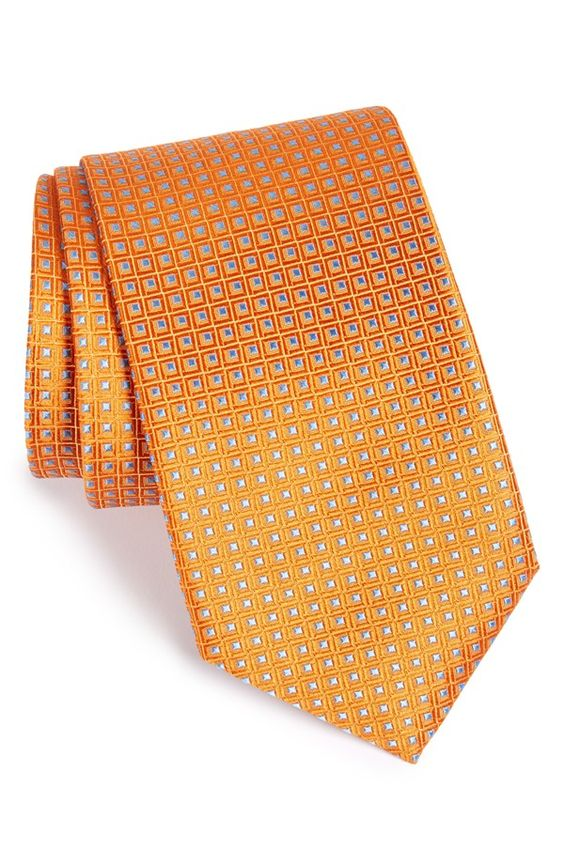 'Beckham' Check Silk Tie (X-Long)