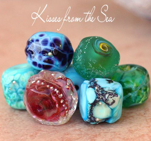 XOX from the Sea #lampwork #ofcourse =-)