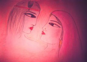 """There is always some madness in love. But there is also always some reason in madness."" #love #quote #sketches #pencil sketches, #radha Krishna"