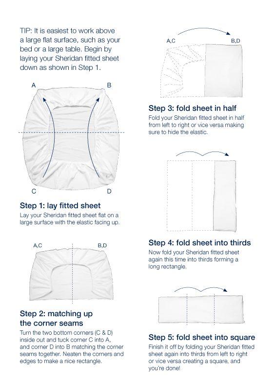 Simples e fácil de fazer. Como dobrar lençol de elástico.
