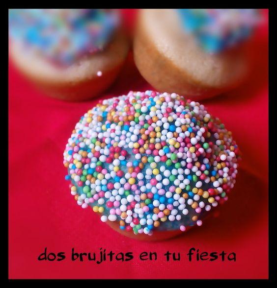 Cupcake de avellanas arcoiris