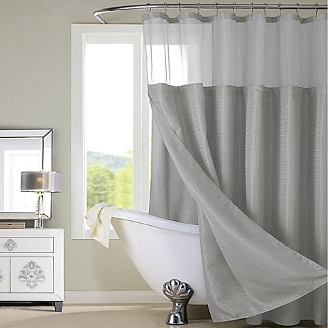 Dainty Home Complete Shower Curtain In Grey Hotel Shower Curtain