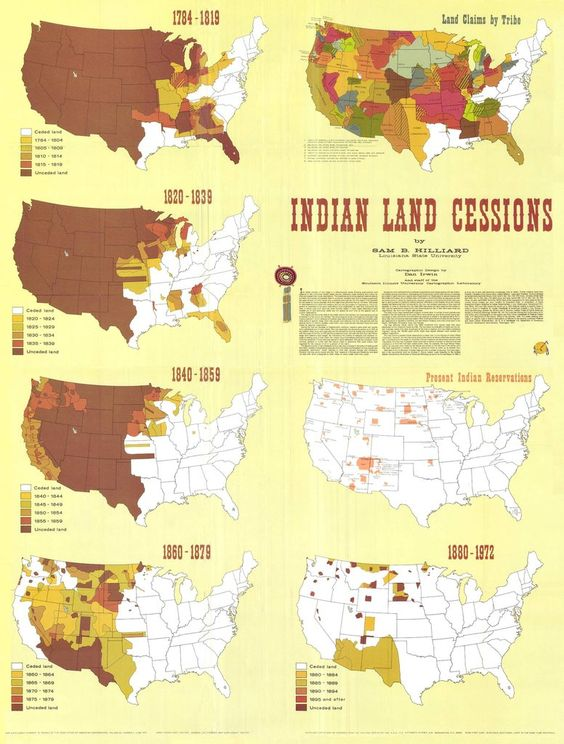 Thelandofmaps United States Indian Land Cessions - Animated map of immigrants to us