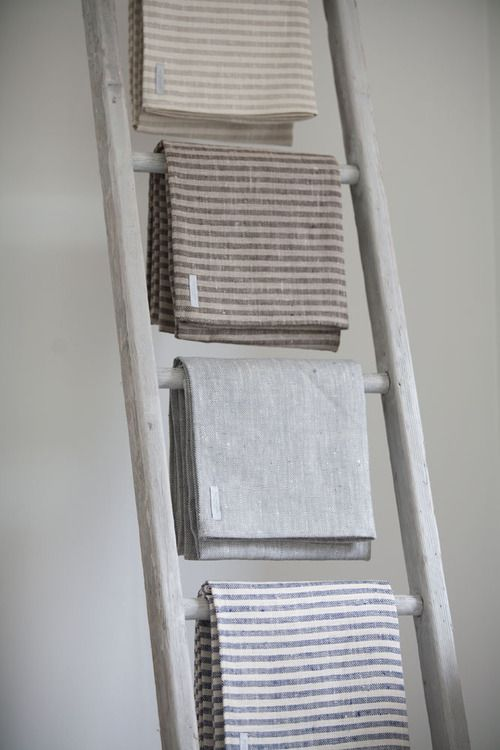 Thick Chambray Linen Bath or Beach Towels. 145cm x 75cm.  Fog Linen are such leaders with design.  We love them. Normal bath towel size. Allow for minimal shrink on first wash.  Made in Lithuania