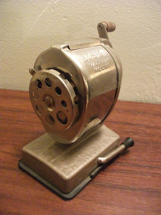 Vintage Boston Pencil Sharpener with Vacuum Mount by PrimePickins, $28.00