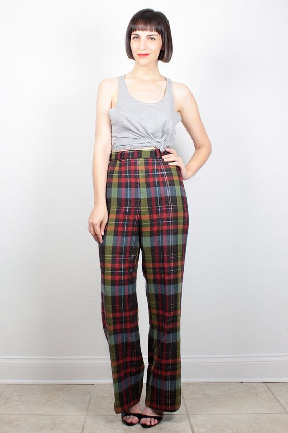 Wool, Plaid and Wool pants on Pinterest
