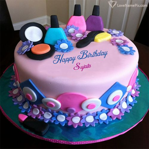 Sujata Name Picture Girly Decorated Beautiful Birthday Cake Happy Birthday Cake Images Beautiful Birthday Cakes Happy Birthday Cakes