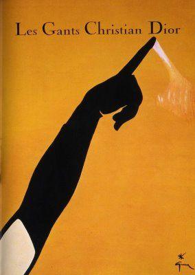 Christan Dior gloves by René Gruau