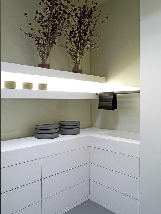 Kitchen by Belgian architects Minus. Nice.