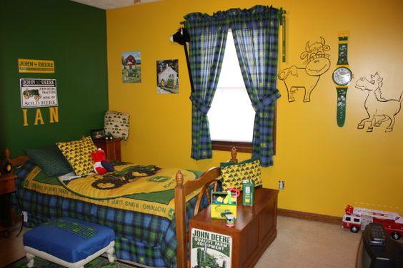 Paint schemes john deere and yellow on pinterest for John deere bedroom ideas