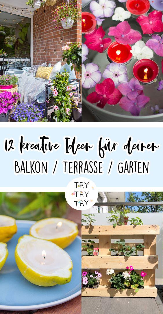 12 kreative Ideen für deinen Balkon / Terrasse / Garten