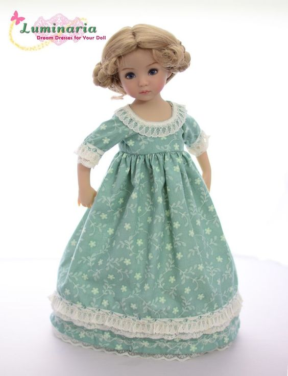 """""""Beauty of the Meadows""""Regency Dress,Clothes for 13""""Effner Little Darling"""