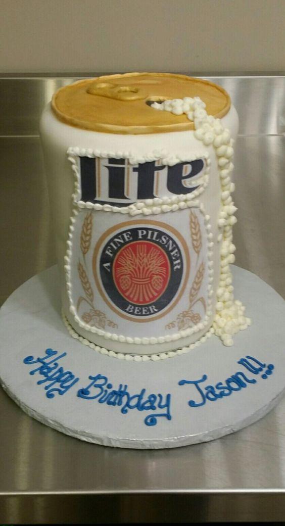 Miller Lite Cake I Made For Marks 49th Bday Entertaining Pinterest
