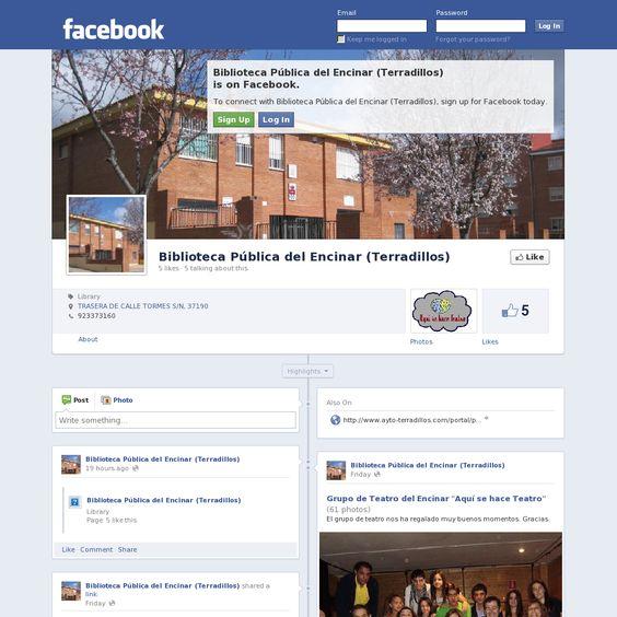 The website 'www.facebook.com/biblioteca.encinar' courtesy of Pinstamatic (http://pinstamatic.com)