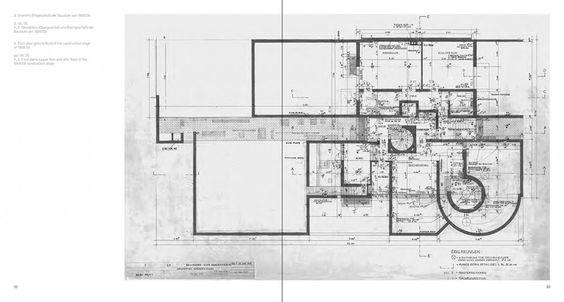 Opus 80, Oswald Mathias Ungers, Haus Belvederestraße 60, Köln-Müngersdorf, S. 32-33, Grundriss aus dem Jahr 1959