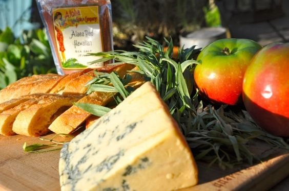 Stilton Bleu Cheese and Other Goodies - Making crostini with caramelized apples, blue cheese and tarragon