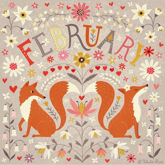 I am terribly late with my calendar art projekt. But thank god, 2016 is a leap Year! So at the very last minute - here comes february!  I'd better start working on March straight away. ;-)