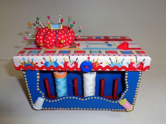 Caixa de costura pequena | Atelier da Ponte | Elo7