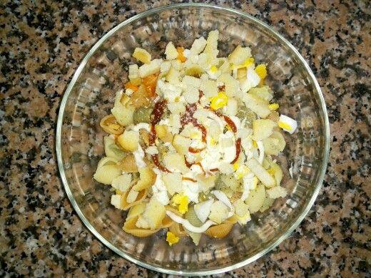 Salada de massa fria