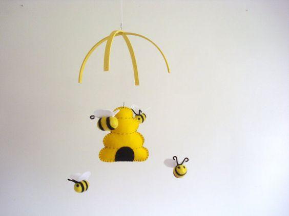 Mobile abeille pépinière Mobile Mobile bébé par ModernSimpleBaby