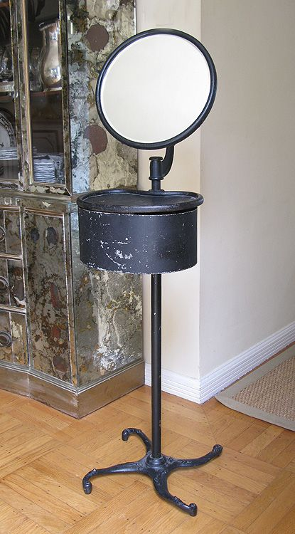 I would love one of these! Antique Cast Iron Shaving Stand-Up Mirror