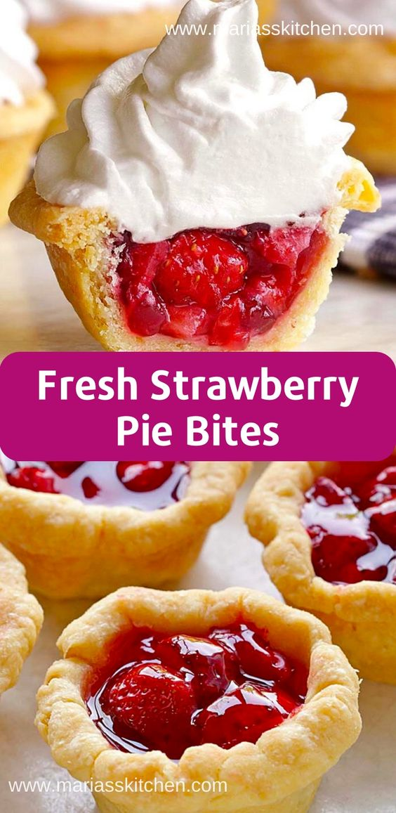 Fresh Strawberry Pie Bites Recipe