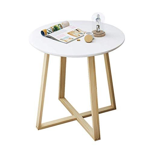 Xingkaiji End Tables Nordic Simple Coffee Table Solid Wood Round