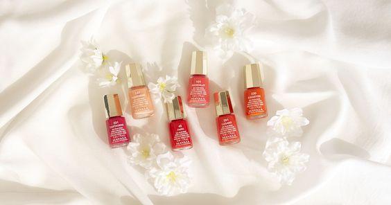 La colección Flower Magic de Mavala, esmaltes de uñas sobre tela de raso