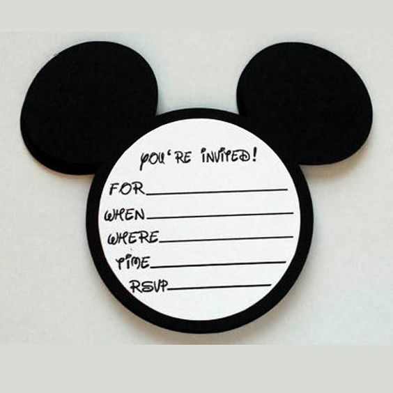 20 mickey mouse birthday party mickey mouse invitations with envelopes mickey mouse ears
