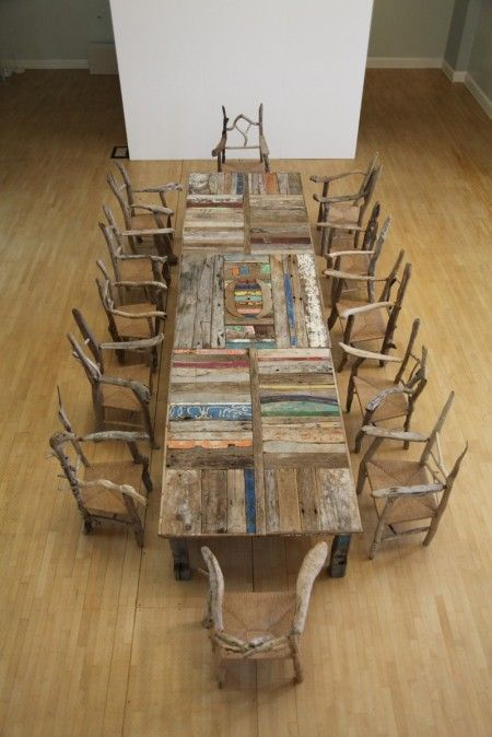 A Table From The Sea's Edge by Silas Birtwistle, made entirely from dfiftwood - I'm going to have to start building up my driftwood collection!