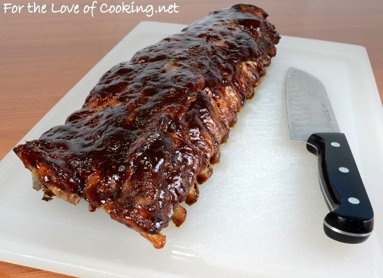 Delicious, oven baked ribs, coat with your favorite rib sauce, add some spices! Very important to remove slick skin on bone side!