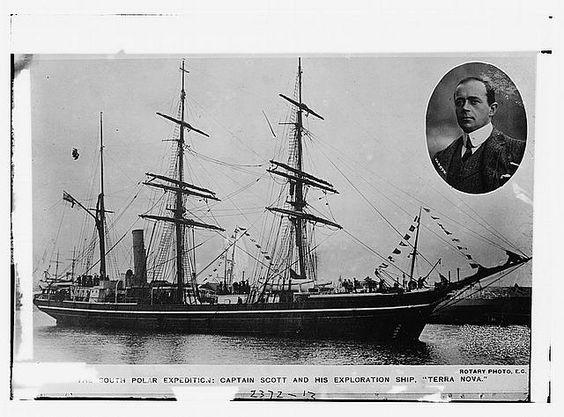 So. Polar Expedition - Capt. Scott and his exploration ship: TERRA NOVA
