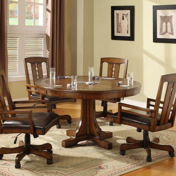 Dining Room Chairs On Casters: Have To Have It. Riverside Craftsman 5 Pc. Convert A