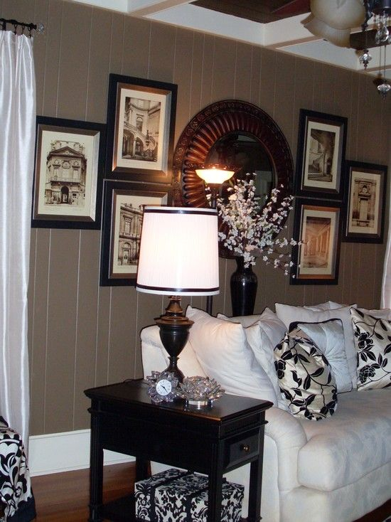 Awesome Painting Ideas for Wood Paneling: Ideas For Wood Paneling With Wood Wall Iving Room In Grey Color ~ dropddesign.com Decorating Inspiration