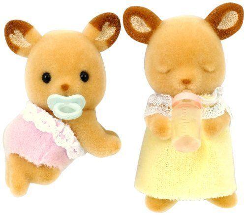 Sylvanian Families Chocolate rabbit twin baby U-67 Epoch japan NEW