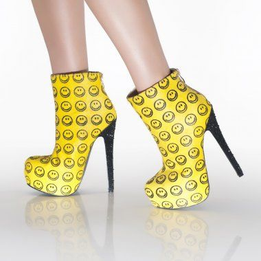 Boots High Heel Heels Inventions Happy I Want Smile