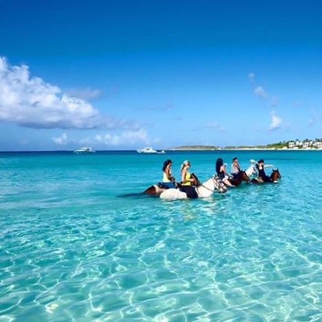 Although our recent trip to #CaptureAnguilla was more like one sustained high-note through out, it certainly was the way to end our skill share retreat... riding into crystal clear waters with the beautiful horses of @seasidestablesanguilla.  #LiveLikeYoureTraveling