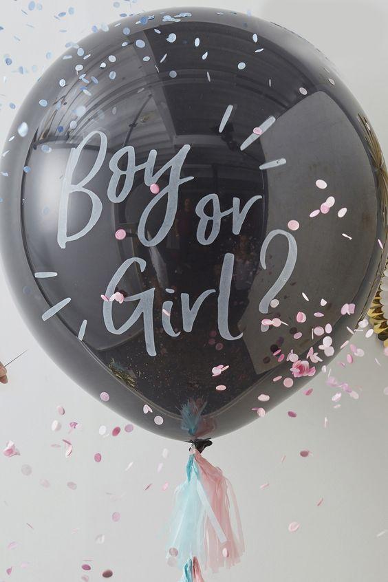 Ginger Ray Gender Reveal Balloon -  Black