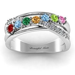 Beautiful #birthstone #mothers #ring for a beautiful #mother. Simply, perfect.