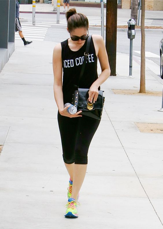 Emmy Rossum going to the gym in Los Angeles, 08/08/15