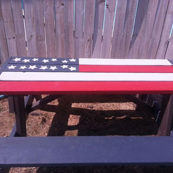 Painted Picnic Table Home Decorating Ideas Pinterest