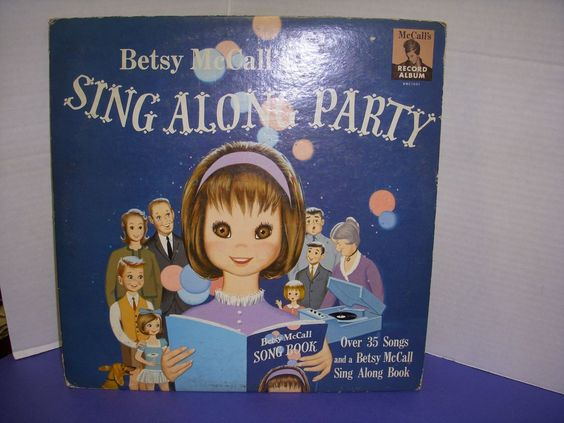 Vintage 1963 Rare Betsy McCall Sing Along Party Record Album! This delightful child's vintage 33 1/3 RPM record album cover pictures Betsy McCall.