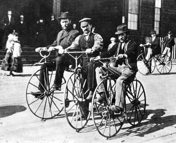 CycleLens @CycleLens Velocipede riders in San Francisco, 1869.