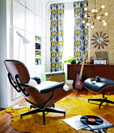 Music room! I love the ottoman.